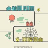 Linear background with urban landscape, a stylish. Modern design for your business, vector illustration eps 10 Royalty Free Stock Image