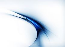 Linear blue motion Royalty Free Stock Image
