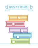 Linear books stack. Education, university, college Royalty Free Stock Photo
