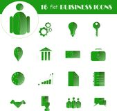 Linear business icons. Thin black lines on white background, illustration Royalty Free Stock Images