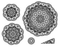 Free Linear Carelessly Drawn By Hand A Vector Sketch Ornamental Mandala Set. Abstract Monochrome Line Art Backdrop Template Royalty Free Stock Photos - 94763318