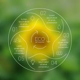 Linear circle eco nature infographic. Ecology Stock Photography