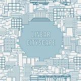 Linear cityscape 1 Royalty Free Stock Photos