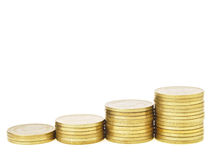 Linear coin graph Stock Photos