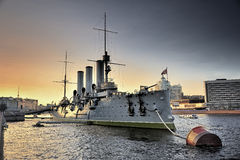 Linear cruiser Aurora Stock Photos