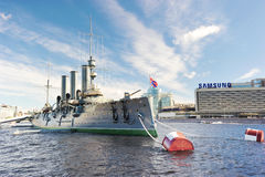 Free Linear Cruiser Aurora, The Symbol Of The October Revolution In R Stock Images - 83418564