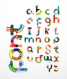 Linear design font, alphabet Royalty Free Stock Photography