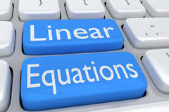 Linear Equations concept Royalty Free Stock Image