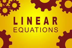 Linear Equations concept Royalty Free Stock Images