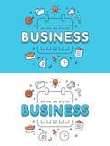 Linear Flat BUSINESS Plan calendar schedule websit Royalty Free Stock Images