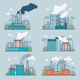 Linear Flat Ecology heavy industry nature pollutio Stock Images