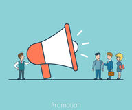 Linear Flat Promoter speaker Business people vector Royalty Free Stock Images