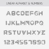 Linear font Stock Photos