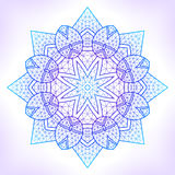 Linear geometric mandala. Royalty Free Stock Photography