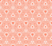 Linear geometric pattern, 50s wallpaper design Stock Image