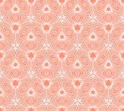 Linear geometric pattern, 50s wallpaper design Stock Image