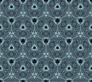 Linear geometric pattern, 50s wallpaper design Stock Images