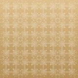 Linear golden grid with circles in nodes. Monochrome texture. illustration. Geometric abstract background. Connected line and dots. Linear golden grid with Vector Illustration