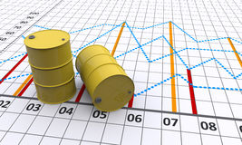 Linear graph Royalty Free Stock Image