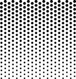 Linear halftone pattern. Circles, speckles, polka dot background royalty free stock image