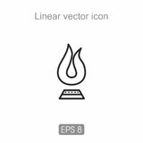 Linear icon in black and white. Icon executed loop in black. There are various applications in the web and in other projects Stock Photography