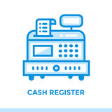 Linear icon CASH REGISTER of finance, banking. Suitable for mobi Royalty Free Stock Images