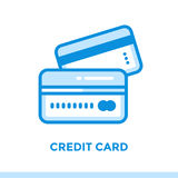 Linear icon CREDIT CARD of finance, banking. Suitable for mobile Royalty Free Stock Photo