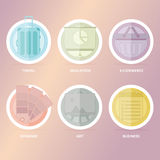 Linear Icon Set Royalty Free Stock Photography