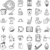 Linear icons collection for food Stock Image