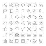 Linear icons for web site. Set of linear icons for web site and for your phone Stock Image