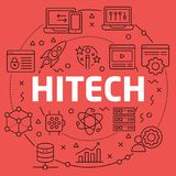 Linear illustration hitech Royalty Free Stock Images