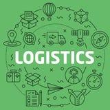 Linear illustration logistics Stock Photos