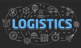Linear illustration logistics Royalty Free Stock Photo