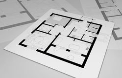 Design apartments Royalty Free Stock Photography