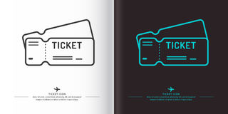 Linear image of tickets. Royalty Free Stock Image
