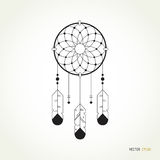 Linear logo dreamcatcher illustration. Royalty Free Stock Photography