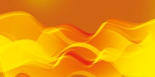 Linear magical energy with imitation of fire. Royalty Free Stock Photography