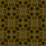 Linear pattern in art deco style in old gold Stock Images