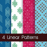 4 Linear Patterns Stock Photography