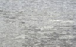 Linear rectangle white and grey marble tile texture. And pattern Stock Photography