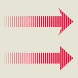 Linear Red Arrow. Isolated on background. Arrow Design. Vector Arrow Stock Photography