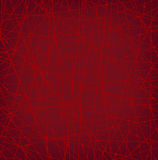 Linear red network texture with dots Royalty Free Stock Photo