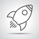 Linear Rocket Icon Stock Photography