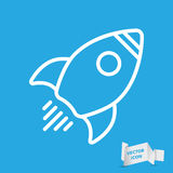 Linear rocket icon Stock Images