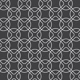 Linear rounded diamond shape and circle, vector pattern vector illustration