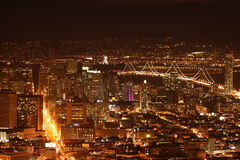 Linear San Francisco. San Francisco is a vibrant city with beautiful piers and a wonderful nightlife. Pier 39 provides an amazing view of the city as well at the Stock Photos