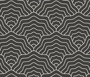 Linear scales seamless pattern, fish tail, mermaid tail Royalty Free Stock Images