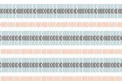 Linear scandinavian seamless pattern. Zigzag pattern. Abstract minimalistic ornament with trendy color. Modern swatch. Flat backgr royalty free illustration