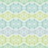 Linear seamless lace pattern in green shades Stock Photos