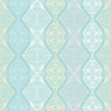 Linear seamless lace pattern in pastel colors Stock Image